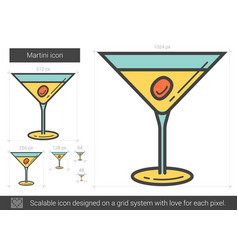 Martini line icon vector
