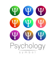 modern sign set of psychology creative style vector image