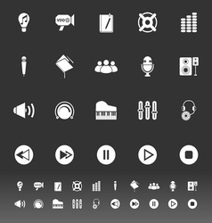 Music icons on gray background vector image