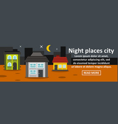 night places city banner horizontal concept vector image vector image