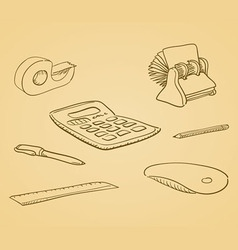 Office Tools vector image vector image