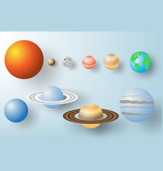 paper art of planet with solar system background vector image vector image