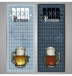 Premium beer menu design vector image