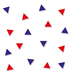 Red blue triangle abstract white background vector