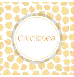 Seamless pattern chickpeabengal gram chick peas vector