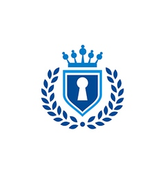 secure shield law tax emblem logo vector image