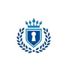 Secure shield law tax emblem logo vector