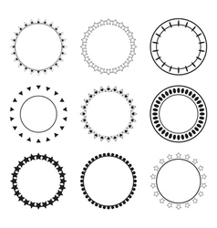 Set of round frames Decoration design elements vector image vector image