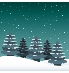 snowscape night background icon vector image