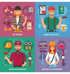 Stylish people concept vector