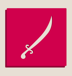 Sword sign grayscale version vector