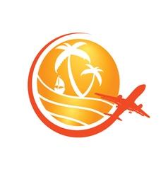 travel sign in orange vector image