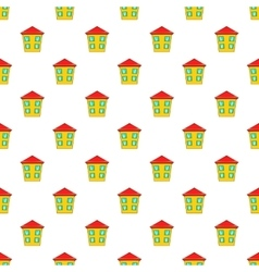 Two storey house pattern cartoon style vector