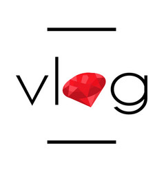 Vlog video blogging logo vector