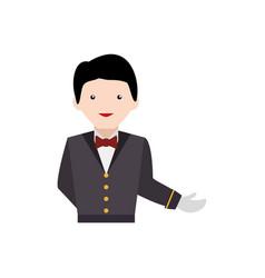 Waiter service clipart vector