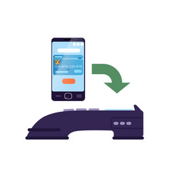 Wireless money transfer using smartphone and vector