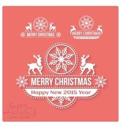 Wishing you much joy holiday season happy new 2015 vector