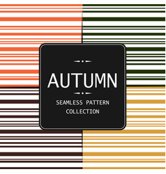 10 autumn seamless patterns endless vector image