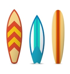 Color surfboard set vector