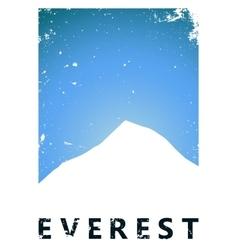 Mountain poster design Mountain design Grunge vector image