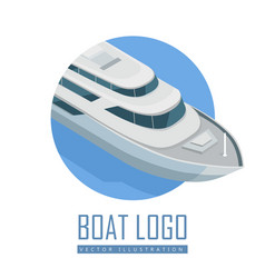 Yacht icon in isometric projection vector