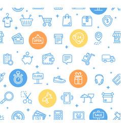Ecommerce online service pattern background vector