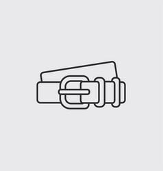 Leather belt vector