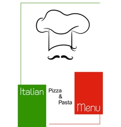 Italian restaurant menu design vector