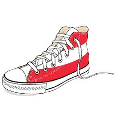 Hand draw modern sport shoes with austria flag vector