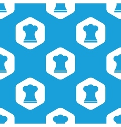 Chef hat hexagon pattern vector image
