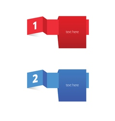 Tag label color vector