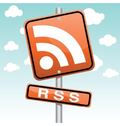 rss symbol vector image