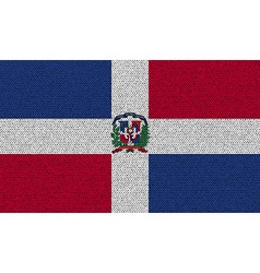 Flags dominican republic on denim texture vector