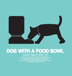 Dog With A Food Bowl Symbol vector image