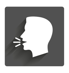 Talk or speak icon loud noise symbol vector