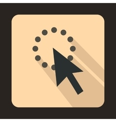 Cursor arrow is loaded icon flat style vector