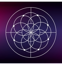 Sacred geometry icon white shape design vector