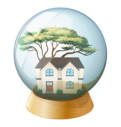 A house inside the crystal ball vector image vector image