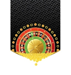 Background with roulette and coins vector