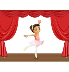 Ballerina on stage vector image
