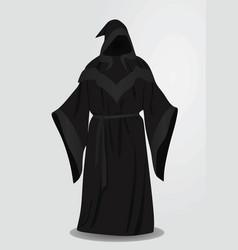 Black long wizard uniform vector