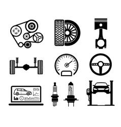 Car maintenance and repair icon set vector