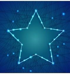 Christmas star of luminous garlands vector image vector image
