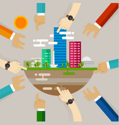 city development people engaging activities vector image
