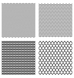 Collection seamless monochrome geometric vector image vector image