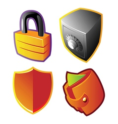 Colorful finance and security vector image vector image