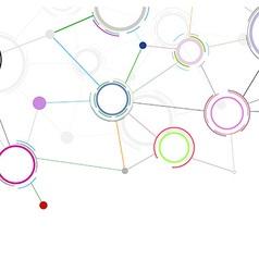Creative communicational network background vector