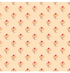 Cupcake tile delicious background wallpaper vector