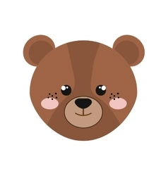 cute little bear animal character vector image vector image