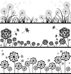 Dandelions set vector image
